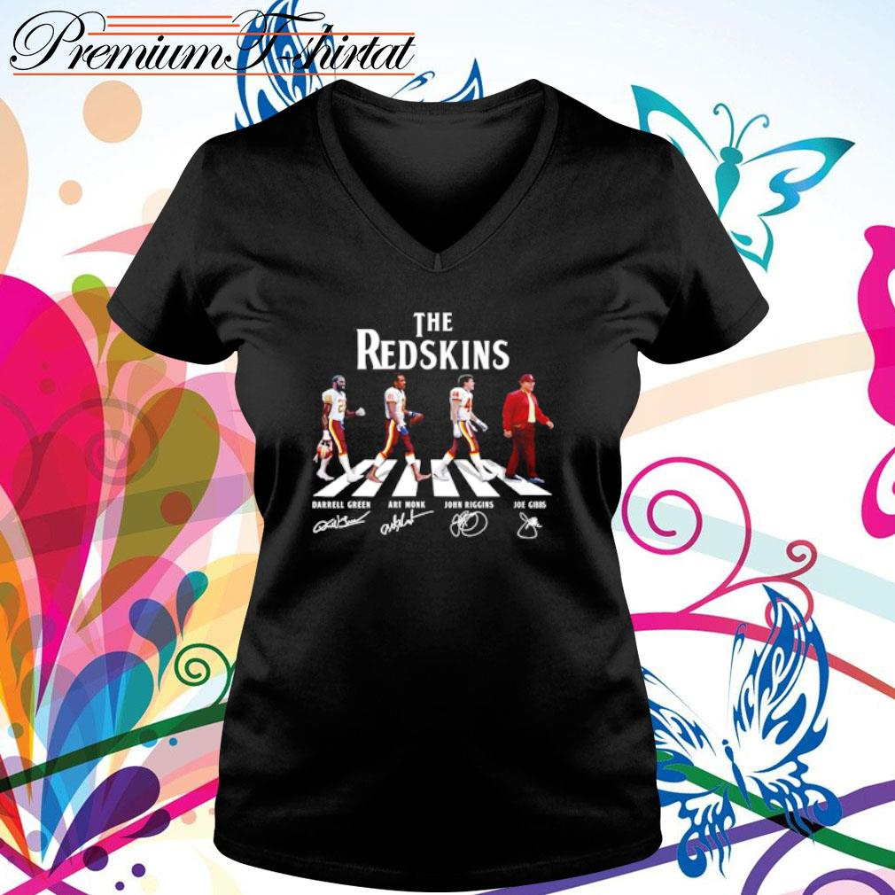 Abbey Road The Redskins signatures s v-neck t-shirt