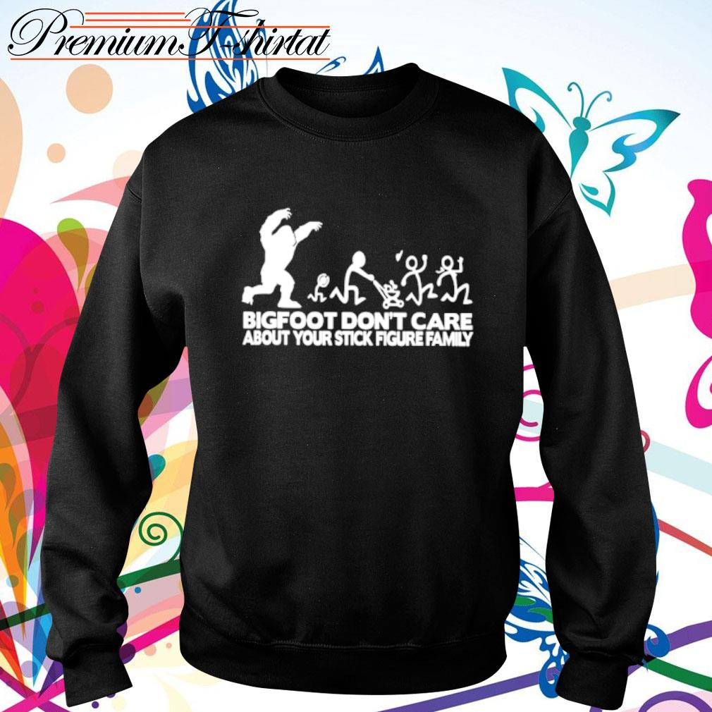 Bigfoot don_t care about your stick figure family s sweater