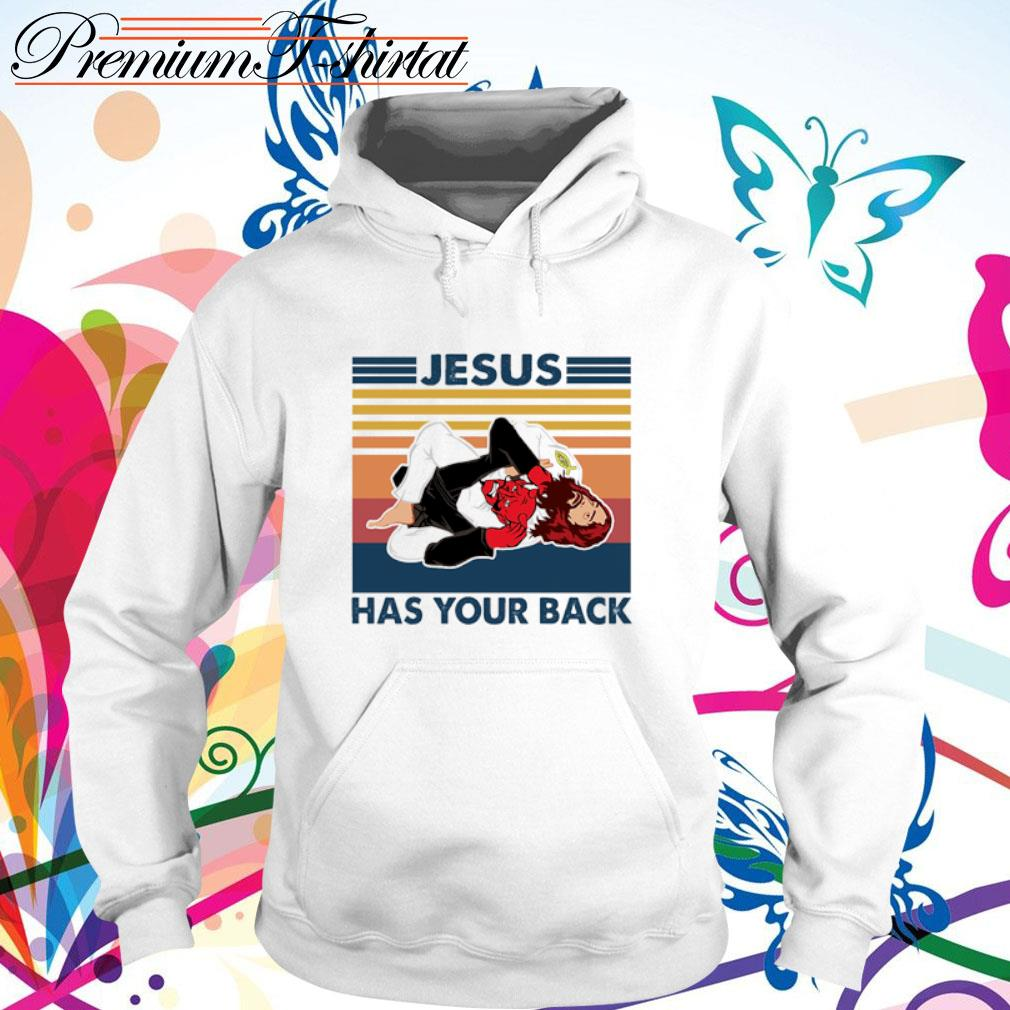 Jiu Jitsu Jesus has your back vintage s hoodie