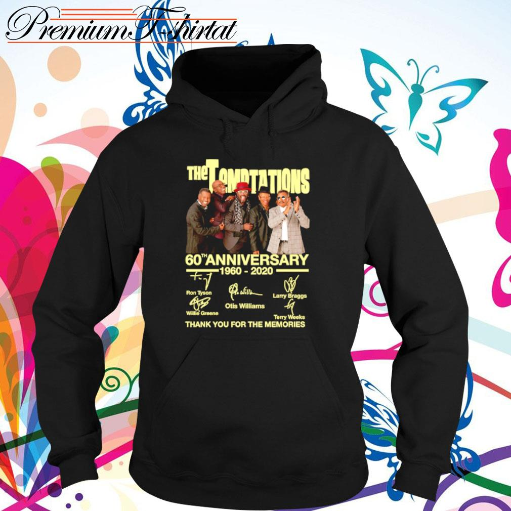 The Temptations 60th anniversary 1960-2020 thank you for the memories s hoodie