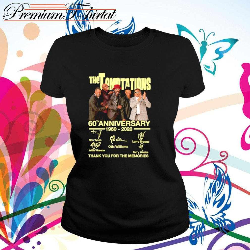 The Temptations 60th anniversary 1960-2020 thank you for the memories s ladies-tee