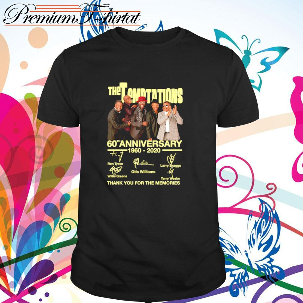 The Temptations 60th anniversary 1960-2020 thank you for the memories shirt