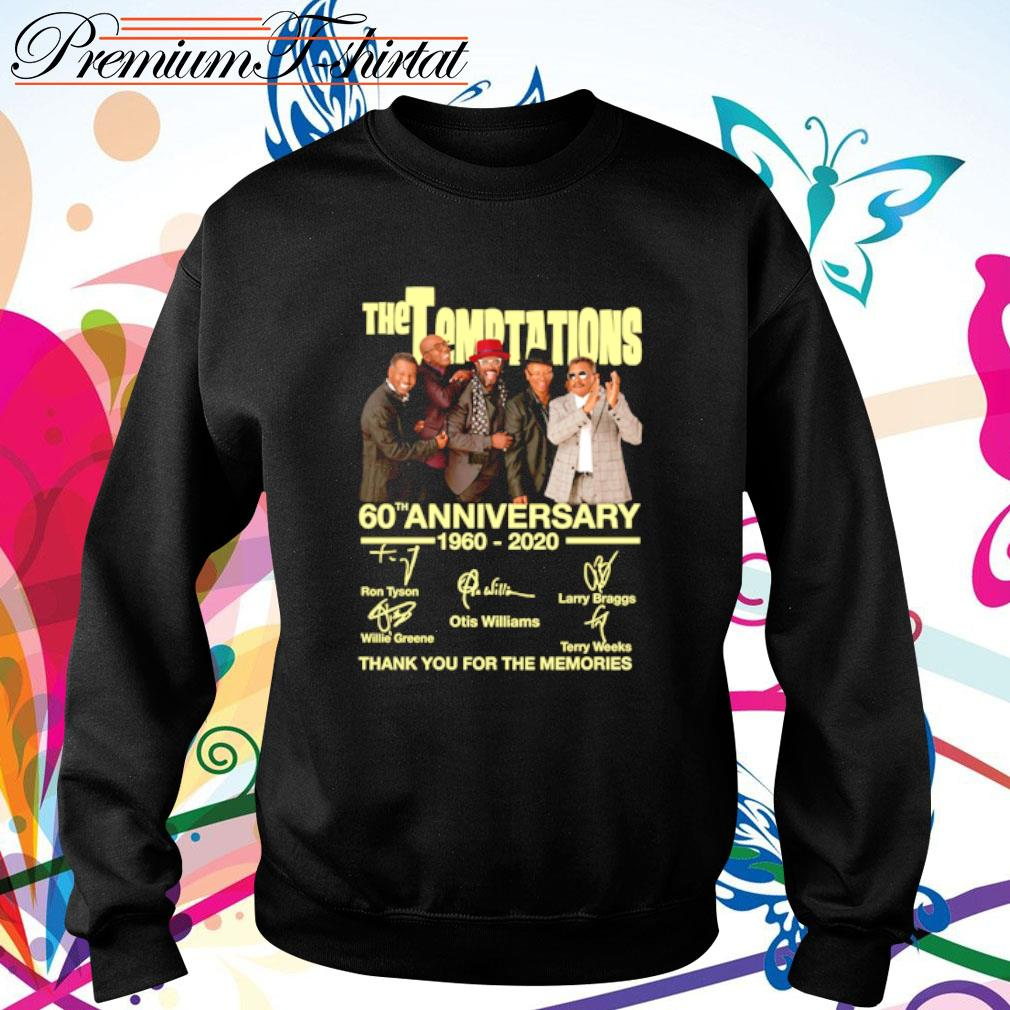The Temptations 60th anniversary 1960-2020 thank you for the memories s sweater