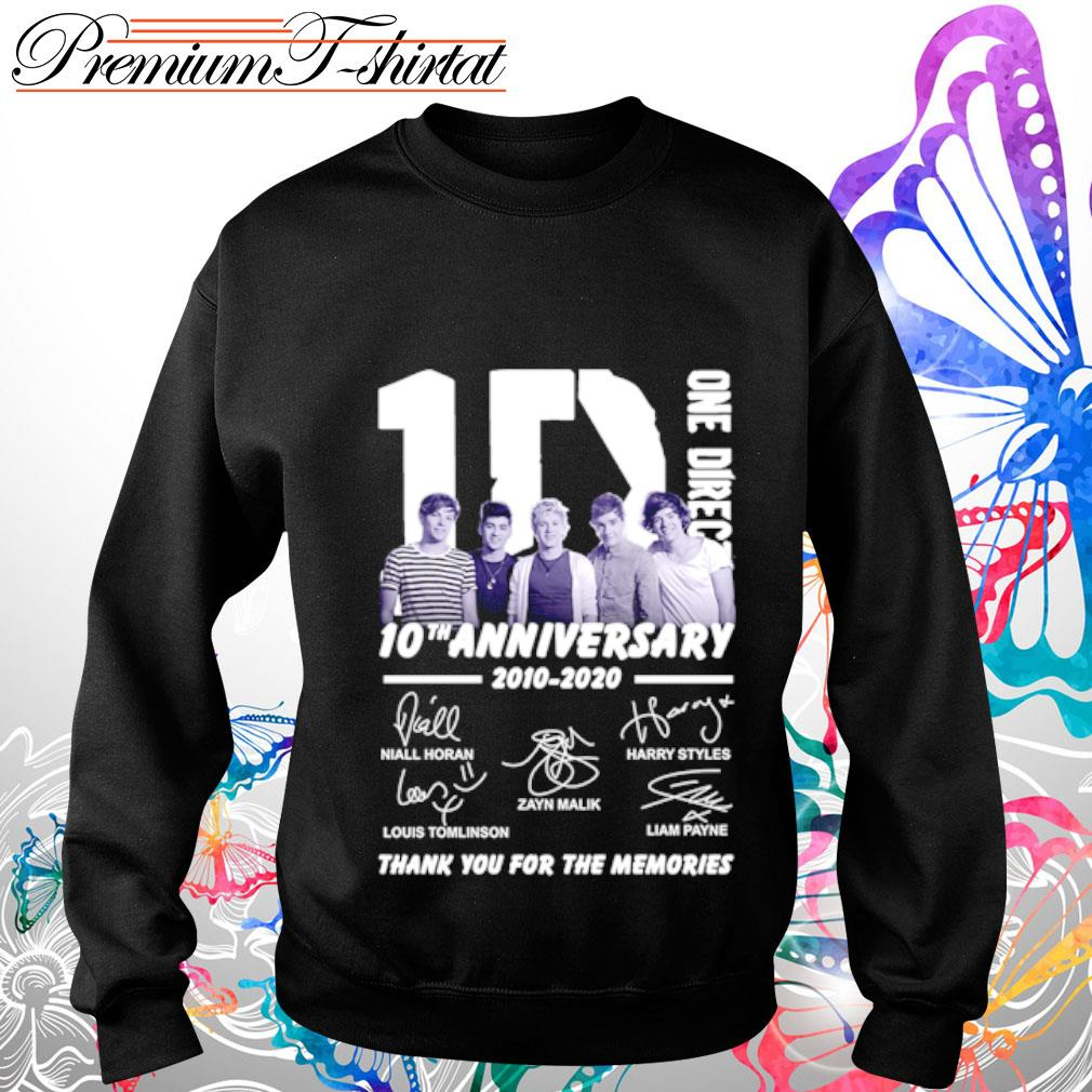 1D One Direction 10th anniversary 2010-2020 thank you for the memories s sweater