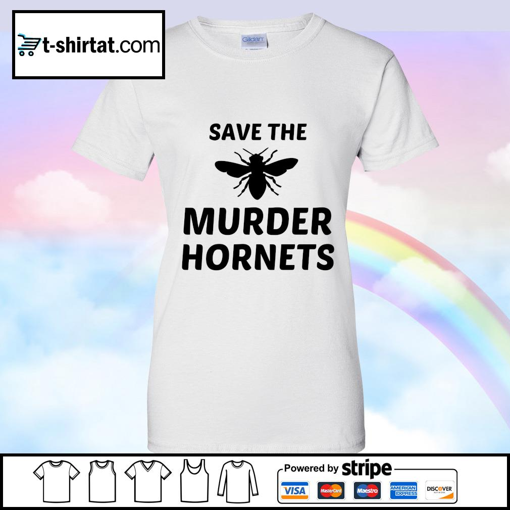 Bee Save the murder hornets s ladies tee