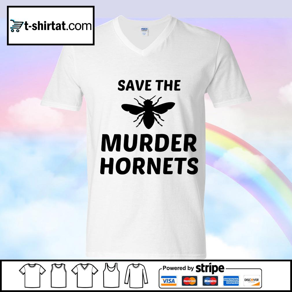 Bee Save the murder hornets s v-neck-t-shirt