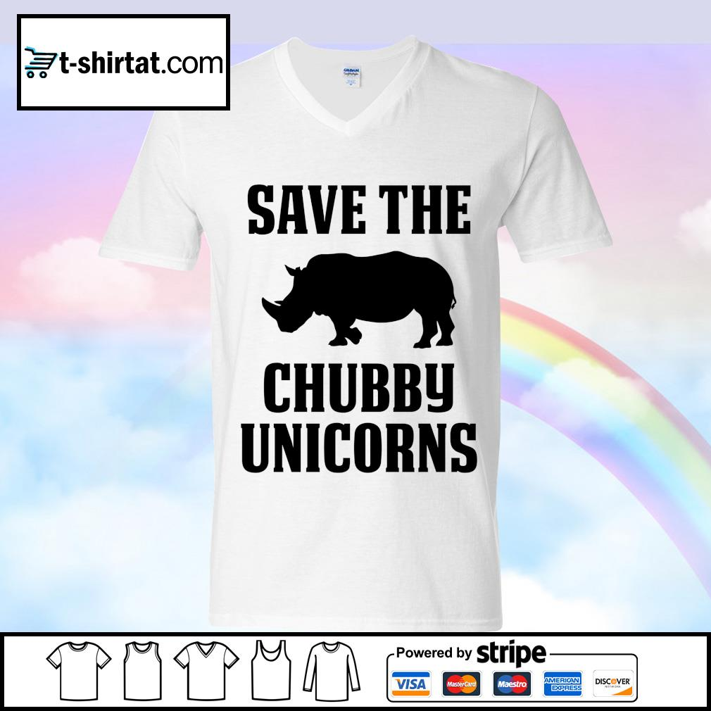 Save The Chubby Unicorns s v-neck-t-shirt