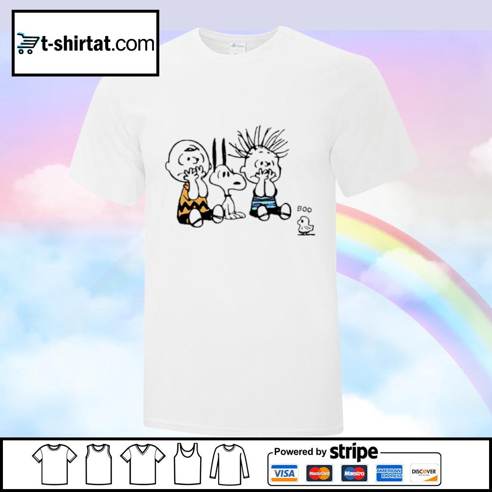 Snoopy and Charlie Brown boo Woodstock shirt