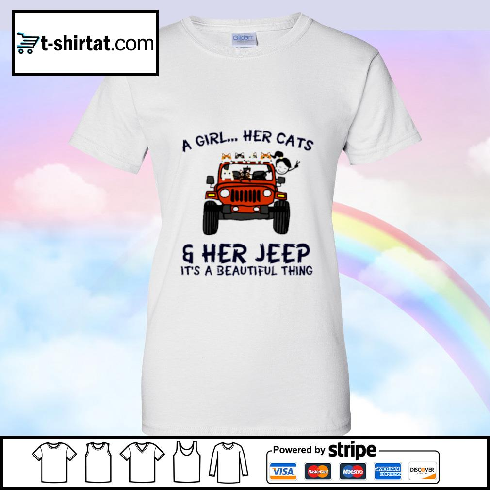 A Girl Her Cats Her Jeep It's A Beautiful Things s ladies tee