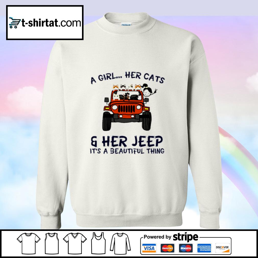 A Girl Her Cats Her Jeep It's A Beautiful Things s sweater