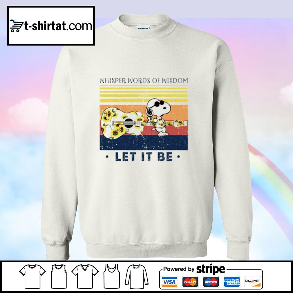 Snoopy whisper words of wisdom let it be vintage s sweater