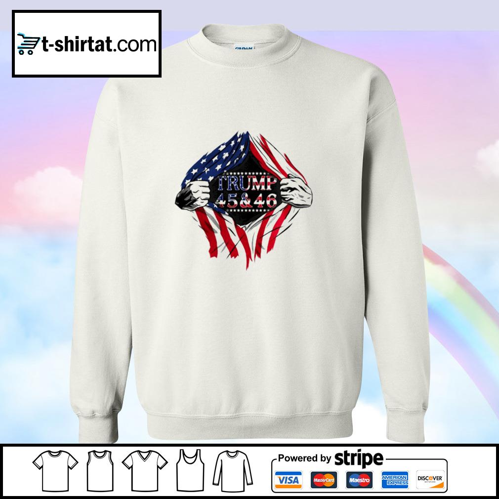 Blood inside trump 45 46 2nd term 2021 2022 2023 american flag s sweater