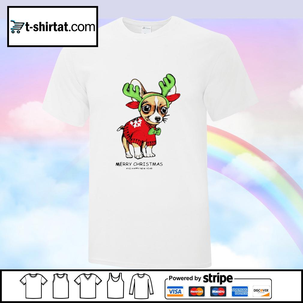 Chihuahuas Merry Christmas And Happy New Year shirt