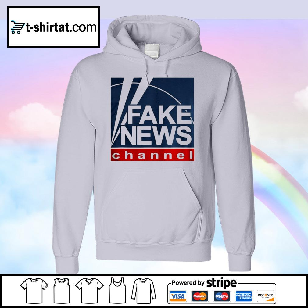 Fake new channel funny vote s hoodie
