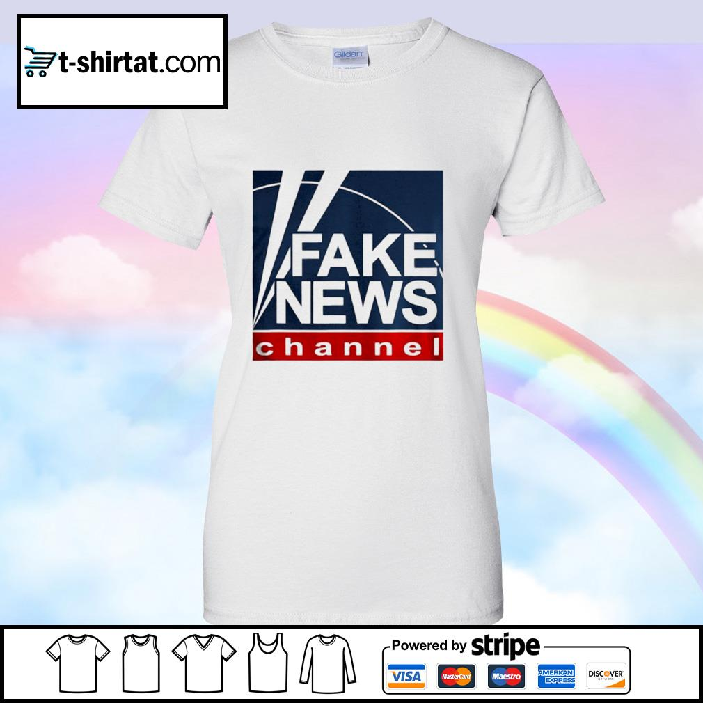 Fake new channel funny vote s ladies tee