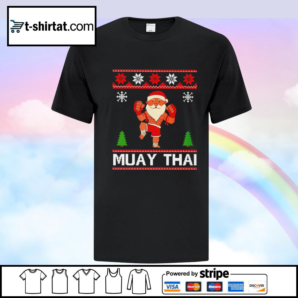 Muay Thai Karate Santa Claus Christmas shirt
