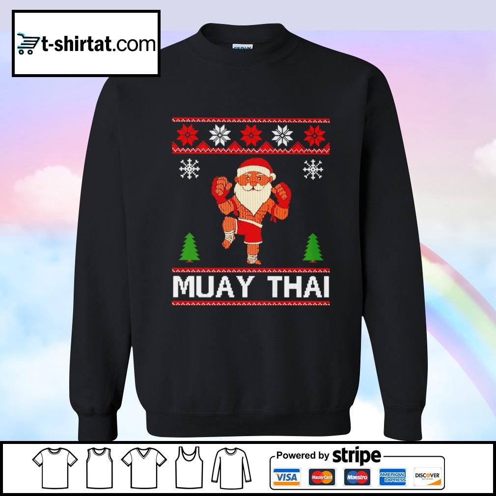 Muay Thai Karate Santa Claus Christmas s sweater